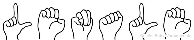 Lenale in Fingersprache für Gehörlose