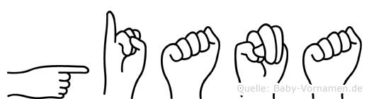 Giana im Fingeralphabet der Deutschen Gebärdensprache