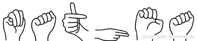 Mathea in Fingersprache für Gehörlose