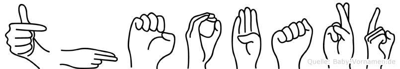 Theobard im Fingeralphabet der Deutschen Gebärdensprache