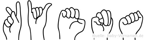 Kyena im Fingeralphabet der Deutschen Gebärdensprache