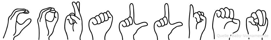 Corallien in Fingersprache für Gehörlose