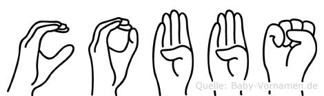 Cobbs im Fingeralphabet der Deutschen Gebärdensprache