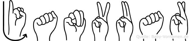 Janvuar im Fingeralphabet der Deutschen Gebärdensprache