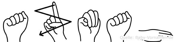 Azmah in Fingersprache für Gehörlose