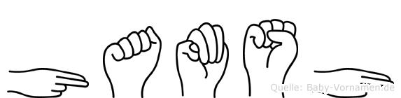 Hamsh im Fingeralphabet der Deutschen Gebärdensprache