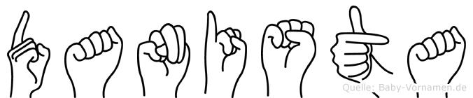 Danista im Fingeralphabet der Deutschen Gebärdensprache