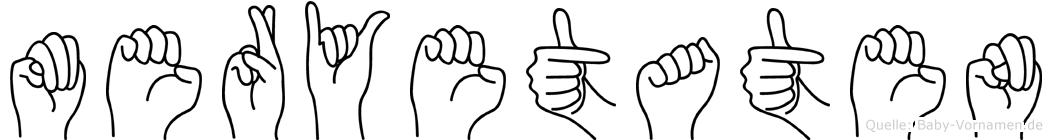 Meryetaten im Fingeralphabet der Deutschen Gebärdensprache