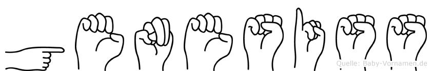 Genesiss im Fingeralphabet der Deutschen Gebärdensprache