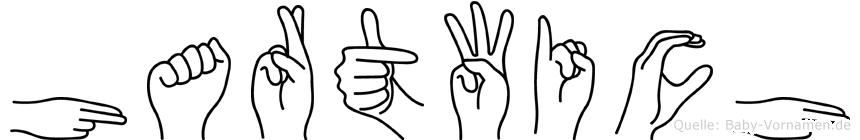 Hartwich im Fingeralphabet der Deutschen Gebärdensprache