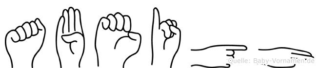 Abeigh in Fingersprache für Gehörlose