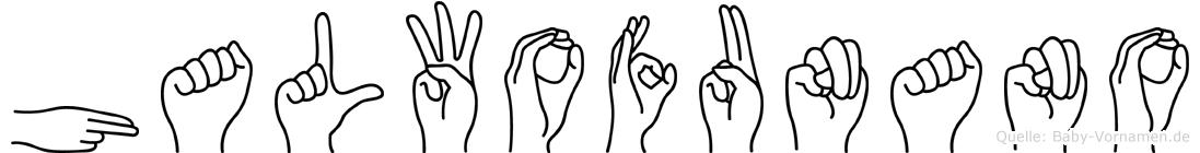 Halwofunano im Fingeralphabet der Deutschen Gebärdensprache