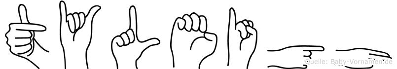 Tyleigh im Fingeralphabet der Deutschen Gebärdensprache