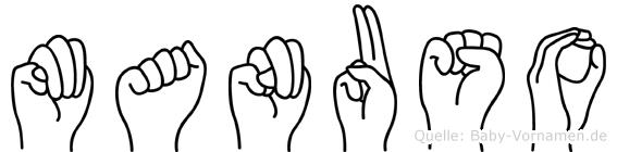 Manuso in Fingersprache für Gehörlose
