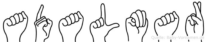 Adalmar in Fingersprache für Gehörlose