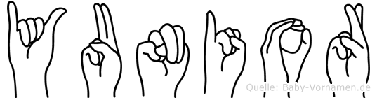 Yunior in Fingersprache für Gehörlose