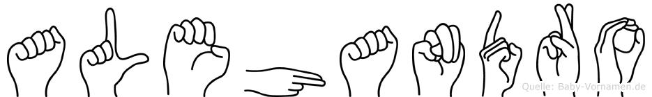 Alehandro im Fingeralphabet der Deutschen Gebärdensprache