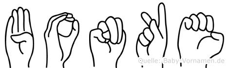 Bonke in Fingersprache für Gehörlose