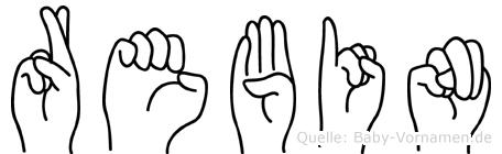 Rebin im Fingeralphabet der Deutschen Gebärdensprache