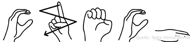 Czech im Fingeralphabet der Deutschen Gebärdensprache