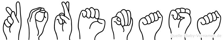 Koremasa im Fingeralphabet der Deutschen Gebärdensprache