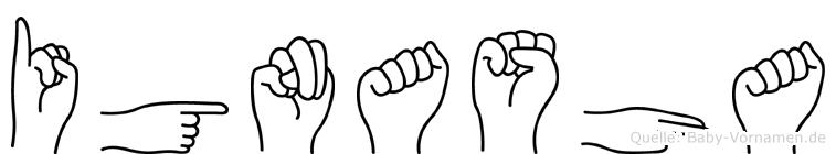 Ignasha im Fingeralphabet der Deutschen Gebärdensprache