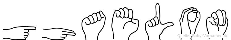 Ghaelon in Fingersprache für Gehörlose
