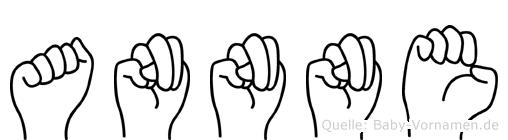 Annne im Fingeralphabet der Deutschen Gebärdensprache