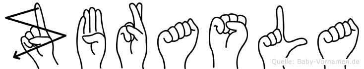 Zbrasla in Fingersprache für Gehörlose