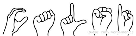 Calsi in Fingersprache für Gehörlose
