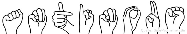 Antinous in Fingersprache für Gehörlose