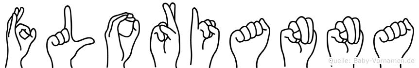 Florianna im Fingeralphabet der Deutschen Gebärdensprache