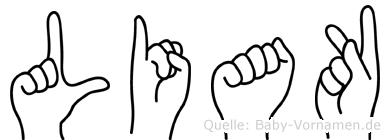 Liak in Fingersprache für Gehörlose