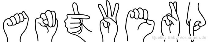 Antwerp in Fingersprache für Gehörlose