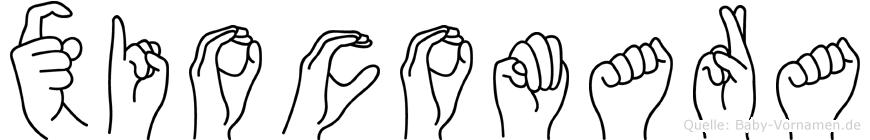 Xiocomara in Fingersprache für Gehörlose