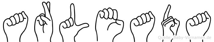 Arleada in Fingersprache für Gehörlose