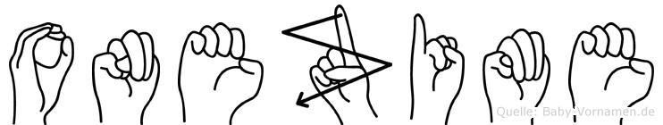 Onezime in Fingersprache für Gehörlose