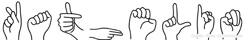 Kathelin im Fingeralphabet der Deutschen Gebärdensprache