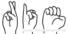 Rie in Fingersprache für Gehörlose