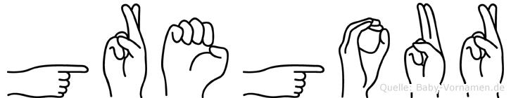 Gregour in Fingersprache für Gehörlose