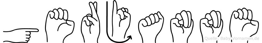Gerjanne im Fingeralphabet der Deutschen Gebärdensprache