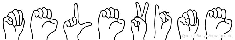 Melevine in Fingersprache für Gehörlose