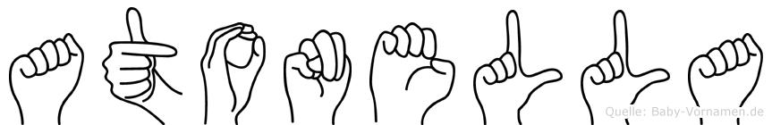 Atonella in Fingersprache für Gehörlose