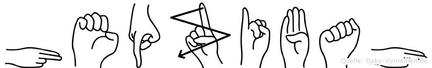 Hepzibah im Fingeralphabet der Deutschen Gebärdensprache