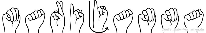 Marijanna im Fingeralphabet der Deutschen Gebärdensprache