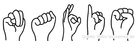 Nafis in Fingersprache für Gehörlose