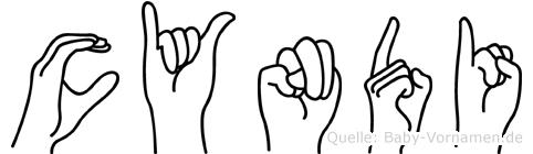 Cyndi im Fingeralphabet der Deutschen Gebärdensprache