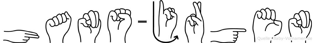 Hans-Jürgen im Fingeralphabet der Deutschen Gebärdensprache