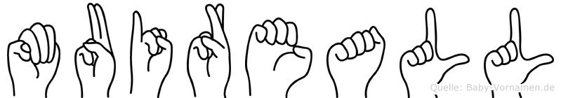 Muireall im Fingeralphabet der Deutschen Gebärdensprache