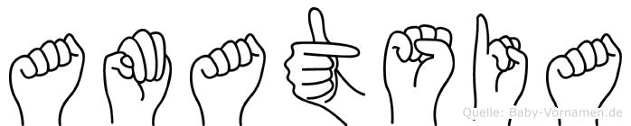 Amatsia in Fingersprache für Gehörlose